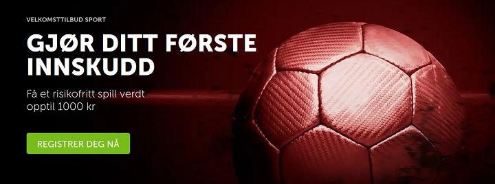 Betsafe sportspill med 1000 kr oddsbonus