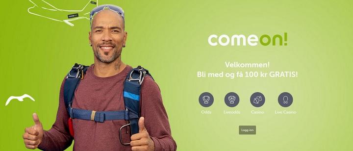 ComeOn velkomsttilbud i Norge